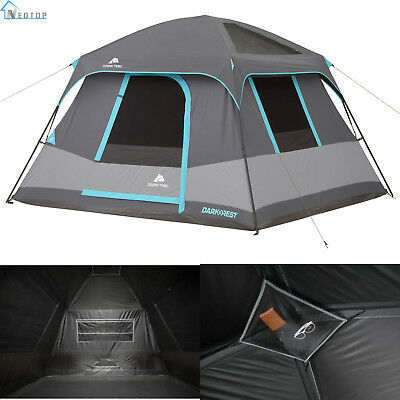Ozark Trail Dark Rest Cabin Tent 6 Person Family Outdoor Camping Hiking  Shelter 817427016862 | eBay