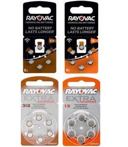 Rayovac Hörgerätebatterien Hörgeräte Knopfzelle versch. Größen 13 312 PR41 PR48
