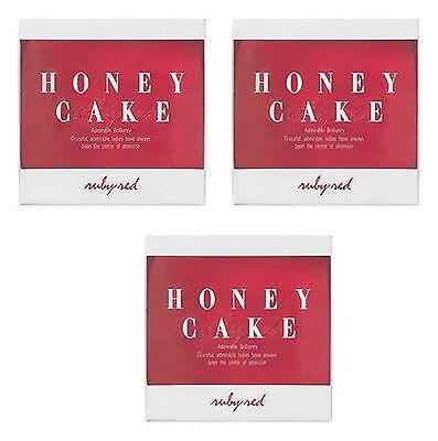 "SHISEIDO☆Japan-HONEY CAKE Translucent Fragrance Soap ""Ruby Red 100g "" ×3P set"