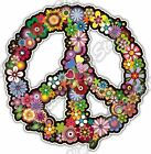 Peace Sign Hippie Abstract Ornament Colorful Car Bumper Vinyl Sticker Decal 4.6