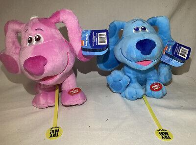 "Lot Of 2 Toys BLUES CLUES PLUSH BLUE /& MAGENTA 6/"" 2020 Nickelodeon Nick Jr"