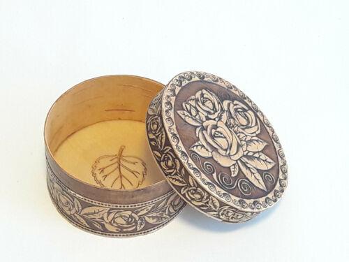 Holz Birkenrinde Schatulle Dose Schachtel Box Natur Organikprodukt Handmade