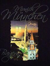 Munich Munchen München Bayern Germany Chapel Skyline Tourist T Shirt M