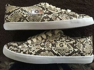 Guess Women's Faux Snake Skin Lace Up