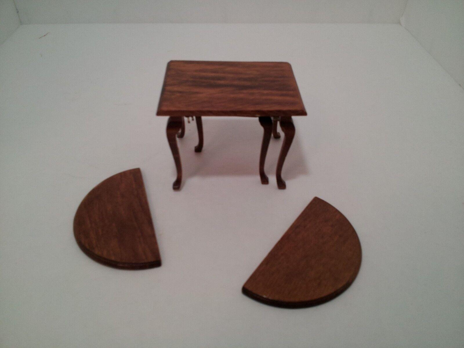 Muñeca casa muebles hoja caída de tabla necesita reparación falta utilizado en miniatura