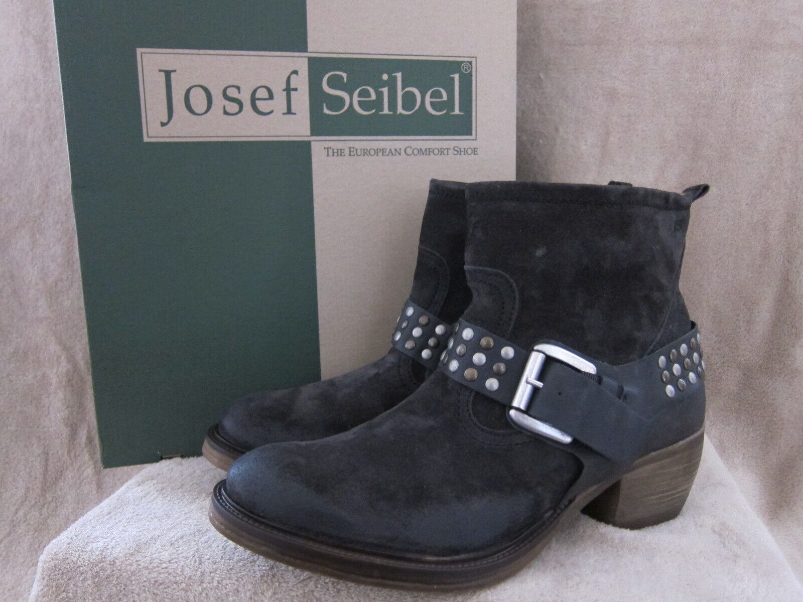 JOSEF SEIBEL Womens Toni 01 Titan Slip On Boots Shoes US 10 - 10.5 M NWB
