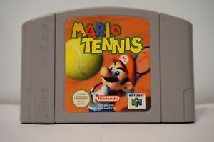 Mario Tennis 64 Nintendo Game n64 juego EUR Cartridge pal genuine retro 2000