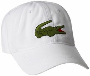 485ca289d New Authentic Lacoste Men s Cap Large Crocodile Gabardine Backstrap ...