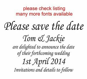 WEDDING RUBBER STAMP 11622 PERSONALISEDBESPOKE SAVE THE DATE INVITE TAG LABEL - <span itemprop='availableAtOrFrom'>gateshead, Tyne and Wear, United Kingdom</span> - returns not accepted on specially made items unless seller error Most purchases from business sellers are protected by the Consumer Contract Regulations 2013 which give y - <span itemprop='availableAtOrFrom'>gateshead, Tyne and Wear, United Kingdom</span>