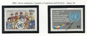 19182-UNITED-NATIONS-New-York-1985-MNH-Definitives