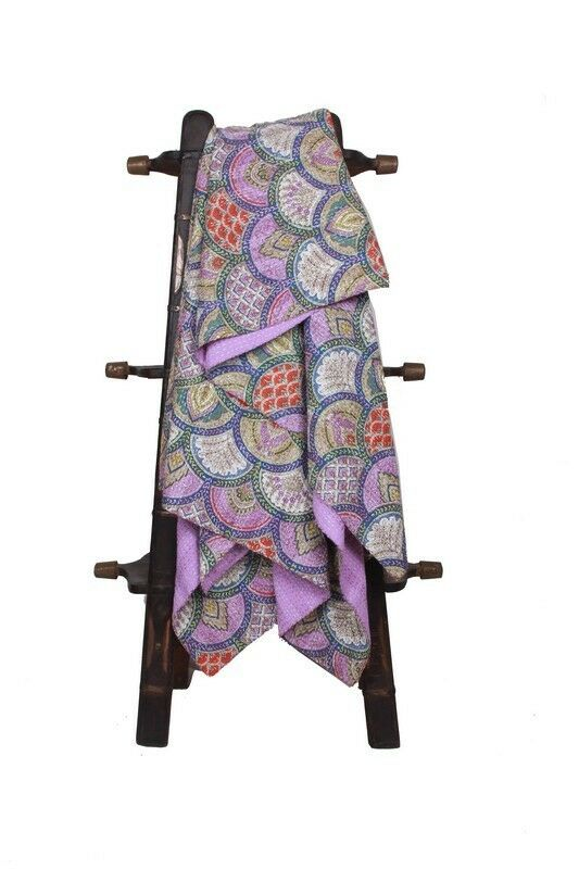 Indian Cotton Kantha Quilts Bedspread Handmade Bedding