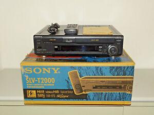 Sony-SLV-T2000-Video-Hi8-VHS-Recorder-in-OVP-gepflegt-FB-amp-BDA-2J-Garantie