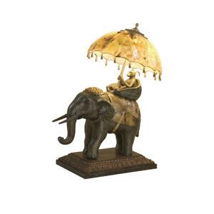 Maitland Smith 8122 17 Monkey Riding An Elephant Lamp