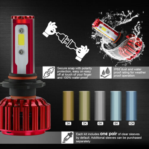 Philips 9007 HB5 252W 25200LM Hi//Low Beam LED Headlight Kit Bulbs 6000K White 2x