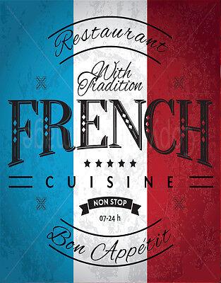 Escargots Vintage French Food Métal Tin Signe Affiche Plaque Murale