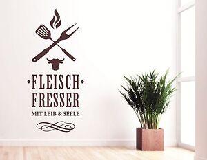 Wandtattoo Küche Wandtatoo Esszimmer Wohnzimmer Grill Fleisch ...