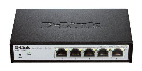 Dlink DGS-1100-05 Easy Smart 5 Port Gig Switch dgs110005