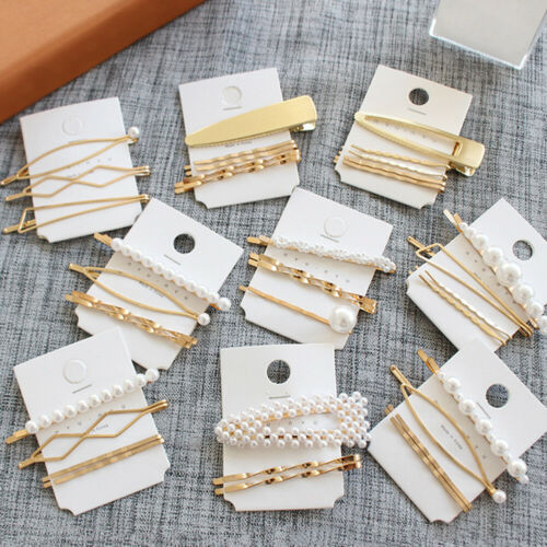 Pearl Hair Clips Accessories Hairpins Metal Wavy Barrettes Bobby Pins for Women