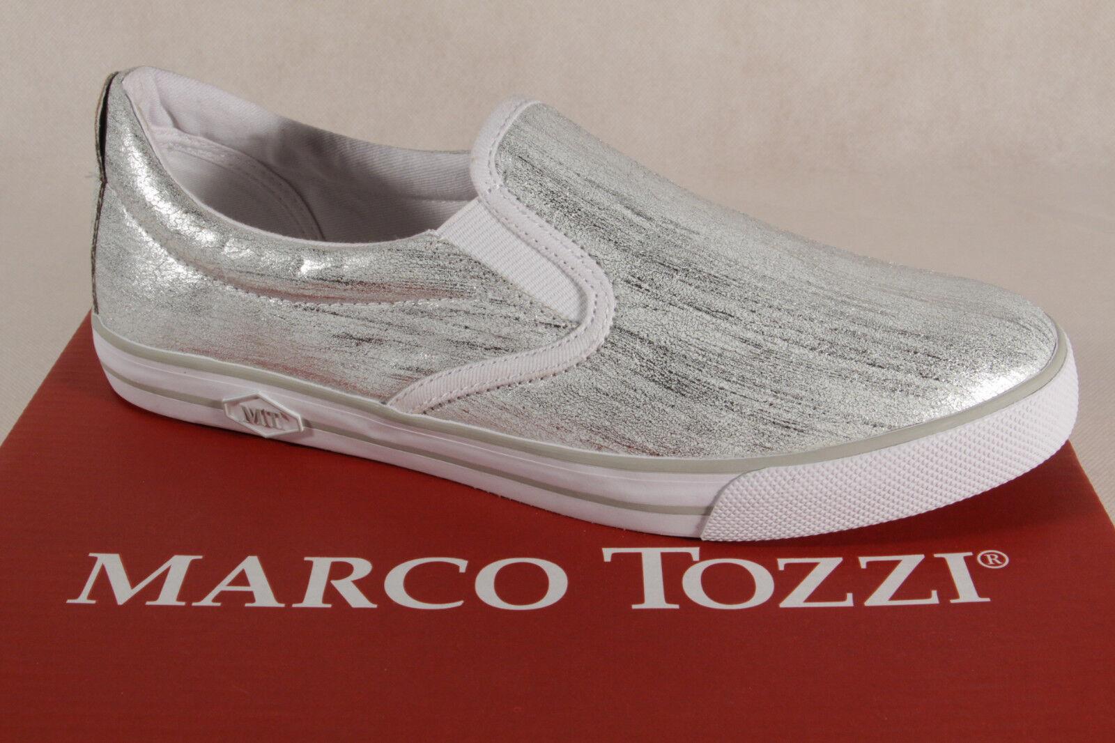 Marco Tozzi Zapatillas Zapatillas Zapatillas Mujer Bailarinas Plata 24611 Nuevo  minoristas en línea