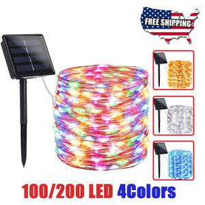 200-100-LED-Solar-Power-String-Fairy-Lights-Christmas-Garden-Outdoor-Party-Lamp