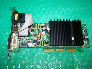 PNY-Nvidia-GeForce-6200-256MB-DVI-VGA-TV-Out-AGP-Graphic-Card-Win-7-compatible