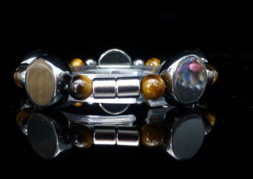 Magnetic Hematite Healing ARTHRITIS PAIN Bracelet Tigers Eye with Clasp