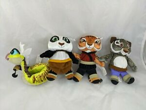 Mattel-Kung-Fu-Panda-Plush-Lot-5-6-034-2008-Stuffed-Animal-Toy