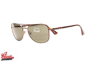 d29049ad18bd6 Image is loading PERSOL-AVIATOR-SUNGLASSES-PO2420S-1018-31-Bronze-Frame-