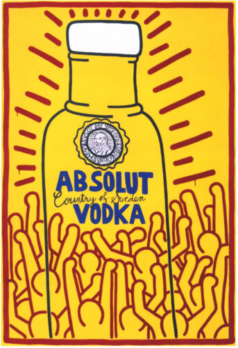 ABSOLUT VODKA KEITH HARING POSTER PRINT 29,7 x 42 cm NEW