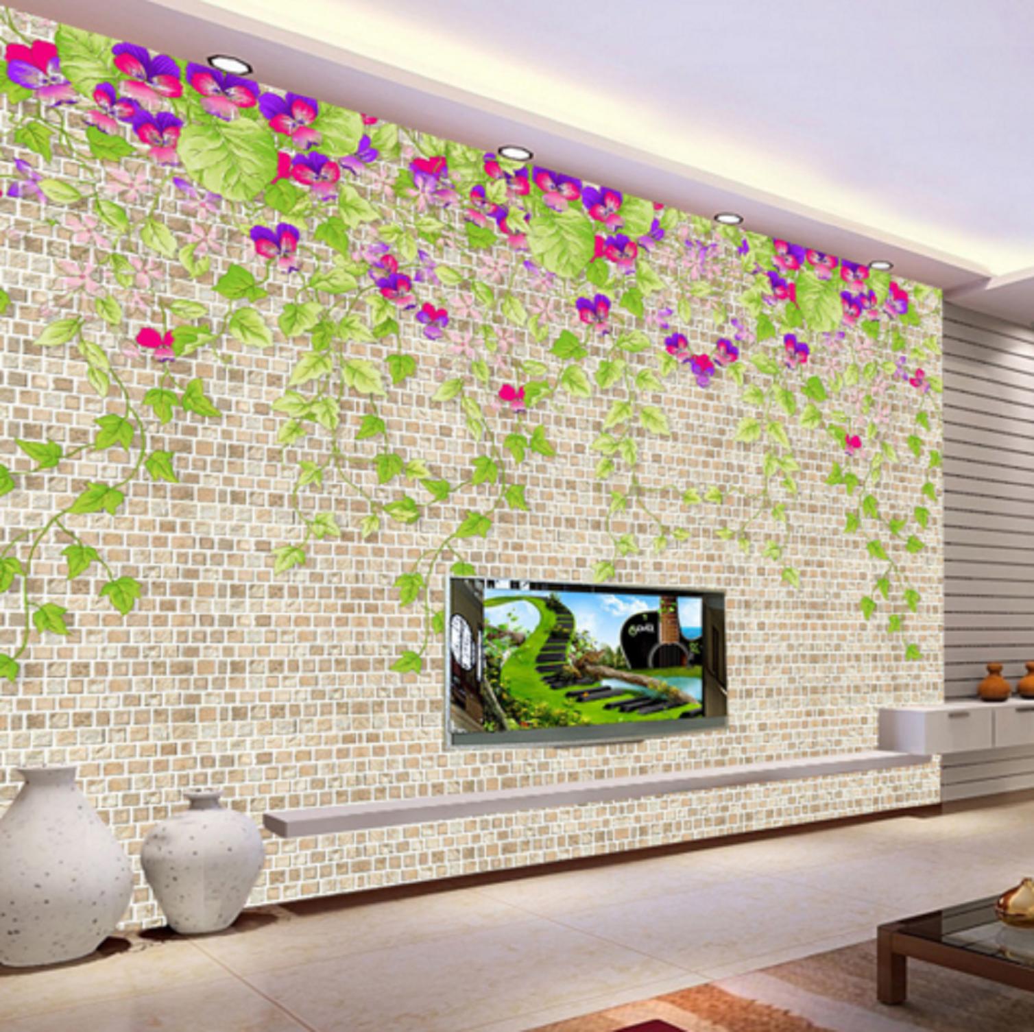 3D Grün Lässt Blume Reben Wand 42 Tapeten Mauer Foto Familie Tapete Wandgemälde
