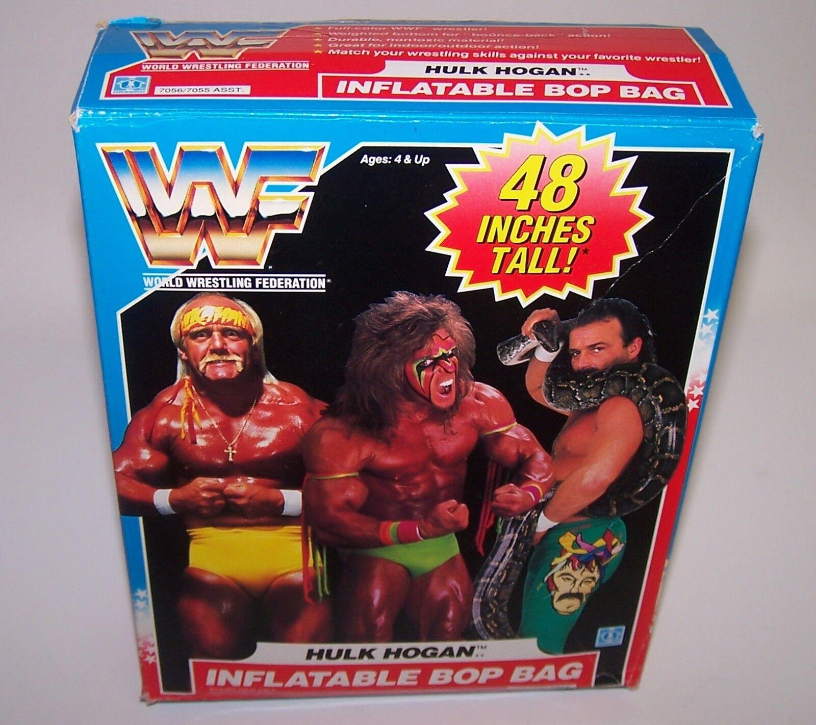 WWF World Wrestling Federation Hulk Hogan 48  Inflatable Bop Bag NIB 1990