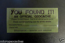 30 Geocaching Stickers Labels for Containers Cache Supplies Swag Peel & Stick