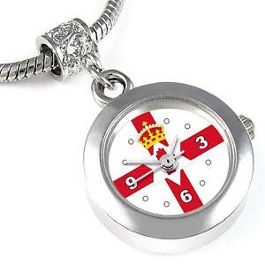 Northern-Ireland-Flag-Silver-European-Bracelet-Spacer-Charm-Bead-Watch-EBA345