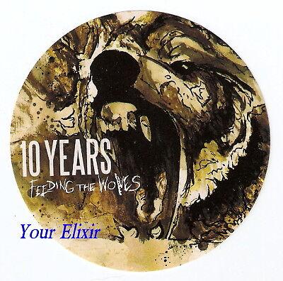 10 TEN YEARS Feeding the Wolves Car Board Case Sticker