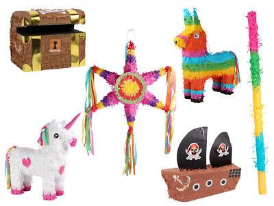 Partydeko Piñata Schatztruhe Partyspiel Piñata Schlagstock Geburtstag