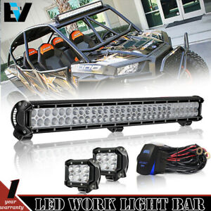 Details About Diy 28 Led Light Bar Kit Wiring Switch With Cube Pods For Rzr Ranger Golf Cart