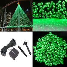 12M 100 Green LED Solar String Lights Lamp Festival Garden XMAS In/Outdoor Decor
