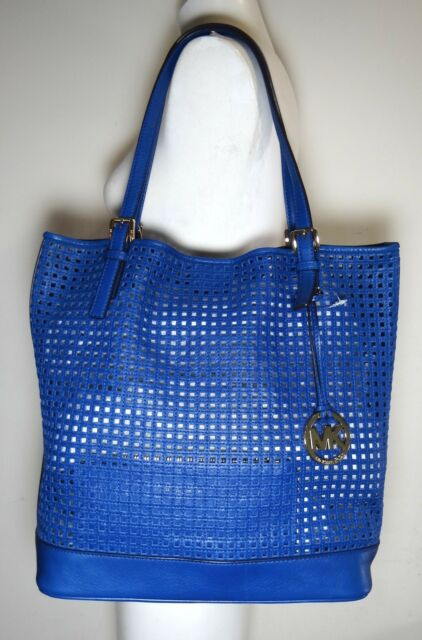 17cdc1b8fbf2 Michael Michael Kors Bridget Large Sapphire Blue Shoulder Tote Bag