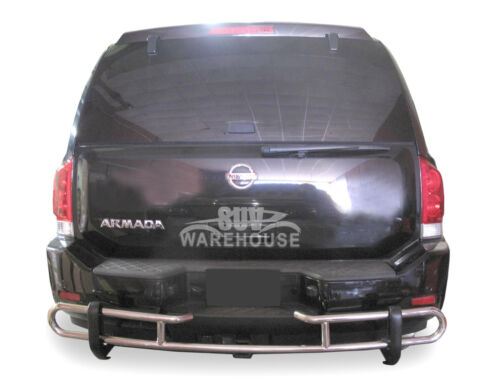 Wynntech S//S Rear Bumper Guard Protector Double Pipe For 2004-2015 Nissan Armada