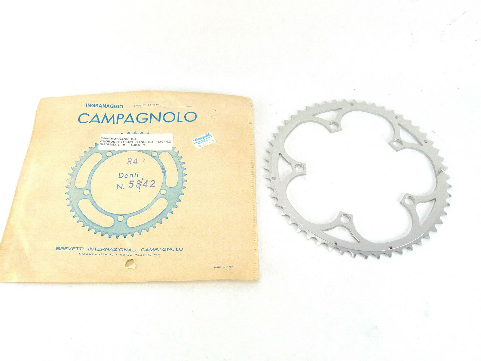 Campagnolo Chorus Athena Chainring 53T Road 135Bcd 9 Speed new 53 42 1994 NOS