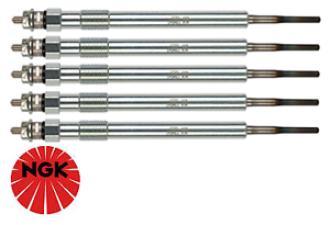 SET OF 5 NGK GLOW PLUGS FOR FORD RANGER PX P5AT TURBO DIESEL 3.2L I5