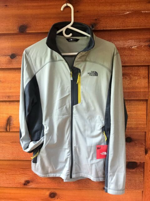 7ae740f18 976The North Face 100 Cinder Full Zip Jacket Men's (Size Large) Grey /  Yellow