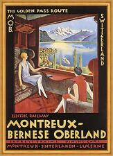 Electric Railway Montreux Bernese Oberland Interlaken Schweiz Plakate A2 269