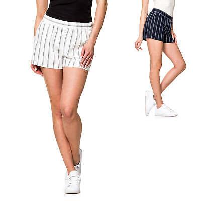 Vero Moda Donna Estate Lino Pantaloncini Shorts Comfort Fit Strisce Pantaloni Bermuda-mostra Il Titolo Originale Delizioso Nel Gusto