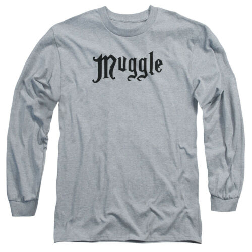 Harry Potter MUGGLE Licensed Adult Long Sleeve T-Shirt S-3XL