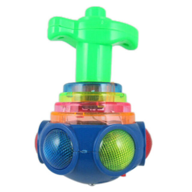 Hot Colorful Light & Music Gyro Peg-Top Spinning Tops Kids Children Toy F2N9