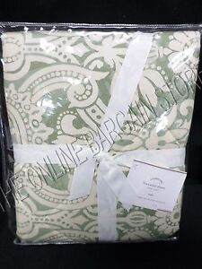 Pottery Barn Lorraine Quilted Damask Floral Bed Pillow