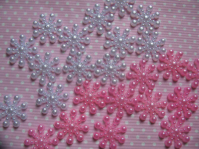 "100 Pear 5/8"" (15mm) Snowflake-2 colors S014-2"