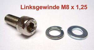 1x-INBUSSCHRAUBE-LENKERSPIEGEL-12-9-GEWINDE-M8-x-1-25-LINKSGEWINDE-LINKS-NEUWARE