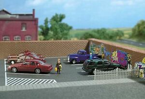 Charmant Busch 9713 Piste H0, Parkings #neu Dans Neuf Dans Sa Boîte #-afficher Le Titre D'origine